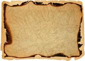 古董纸与被烧的边缘 — 图库照片