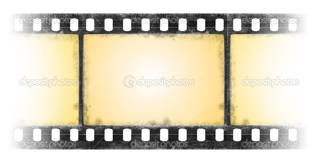 old film frame in grun