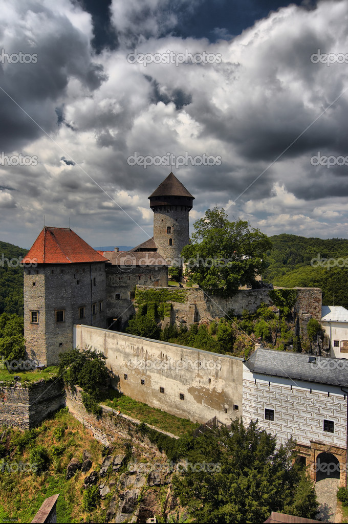 Shot of the castle of the holy order of knights. Czech republic, Europe. — Stock Photo #2482063