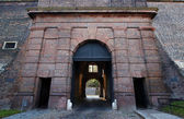 Ceglana brama - bastion vysehrad — Zdjęcie stockowe