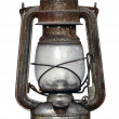 Stock Photo: Time-worn kerosene lamp