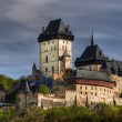 Karlstejn - large gothic castle — Stock Photo