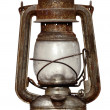 Time-worn kerosene lamp — Foto Stock