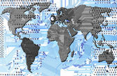 Communication - computer world - states — Stock Photo