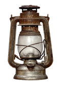 Time-worn kerosene lamp — Stock Photo