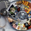 Photos on the hard disc - Stock Photo