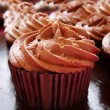 Chocolate cup cakes — Foto Stock