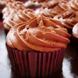 Chocolate cup cakes — Stockfoto