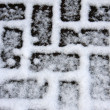 Snow on brick path — Stock Photo