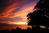 Sunset in the Dominican Republic — Stock Photo