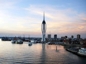 Portsmouth waterfront — Stock Photo