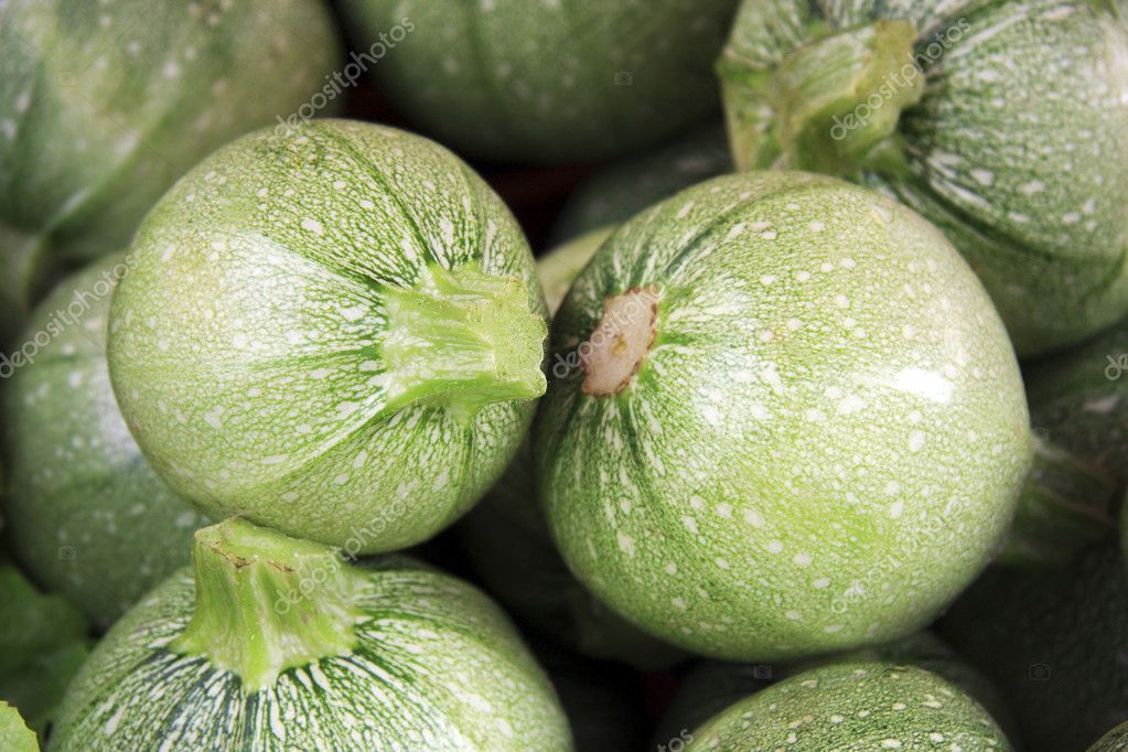 Fresh gem squash for sale at a market  Stock Photo #2415369