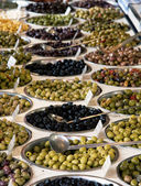 Olive varieties — Stock Photo