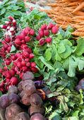 Vegetable display — Stock Photo