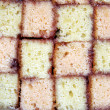 Battenburg cake — Stock Photo