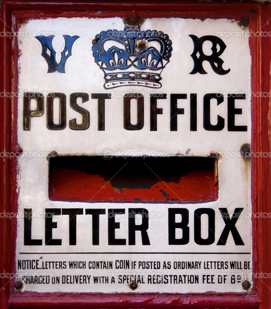 A close up of a Victorian post box — Stock Photo #2570791
