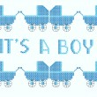 Royalty-Free Stock Imagem Vetorial: I\'s a boy cross stitch