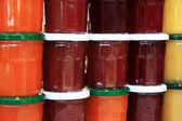Jam jars — Stock Photo