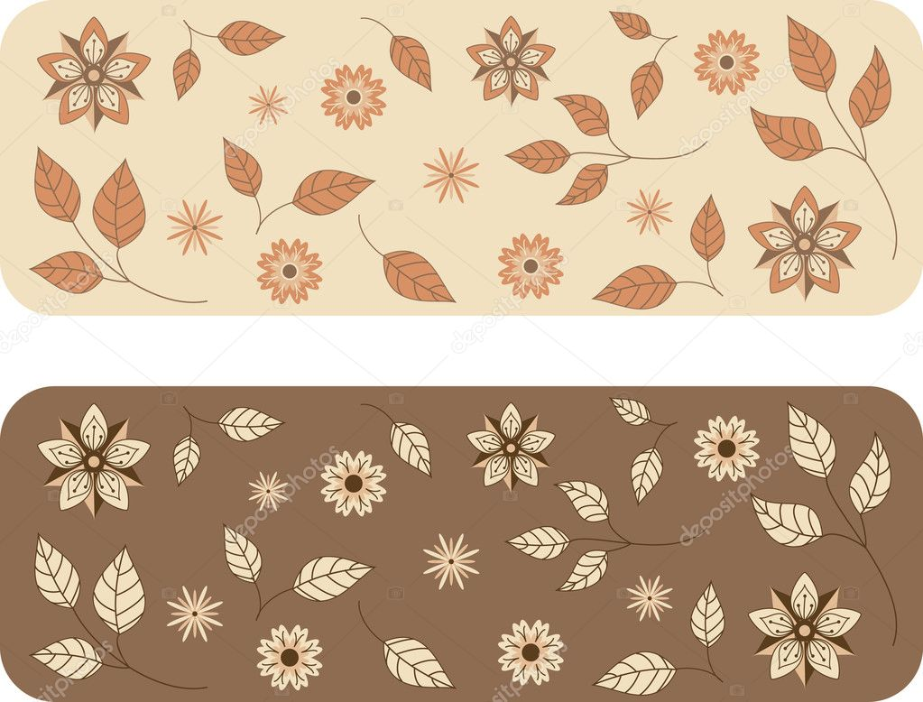 Floral background pattern in different colors — Stock Vector #2317458