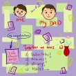 Stockvektor : Greeting card on Father's Day