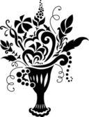 Wirowa wzór ornament elementów — Wektor stockowy