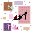 Abstract background with shoes — Stok Vektör #2416811