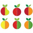 Vector illustration of fruits — Stock Vector