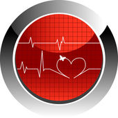Vector illustration of cardiogram — Stock Vector
