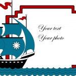 Vector illustration of sailboat — Stock Vector #2501787