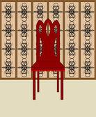 Wooden chair — Stock Vector