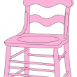 Vector illustration of pink chair — Stock Vector