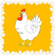 Vector illustration of chiken with eggs — Stock Vector