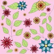 Seamless floral background pattern — Stock Vector