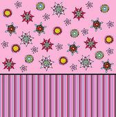 Dikişsiz çiçek duvar kağıdı deseni — Stok Vektör