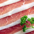 Ham and parsley — Stock Photo