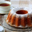 Stockfoto: Ring cake with sugar
