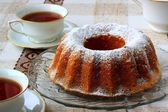 Ring cake with sugar — Stockfoto