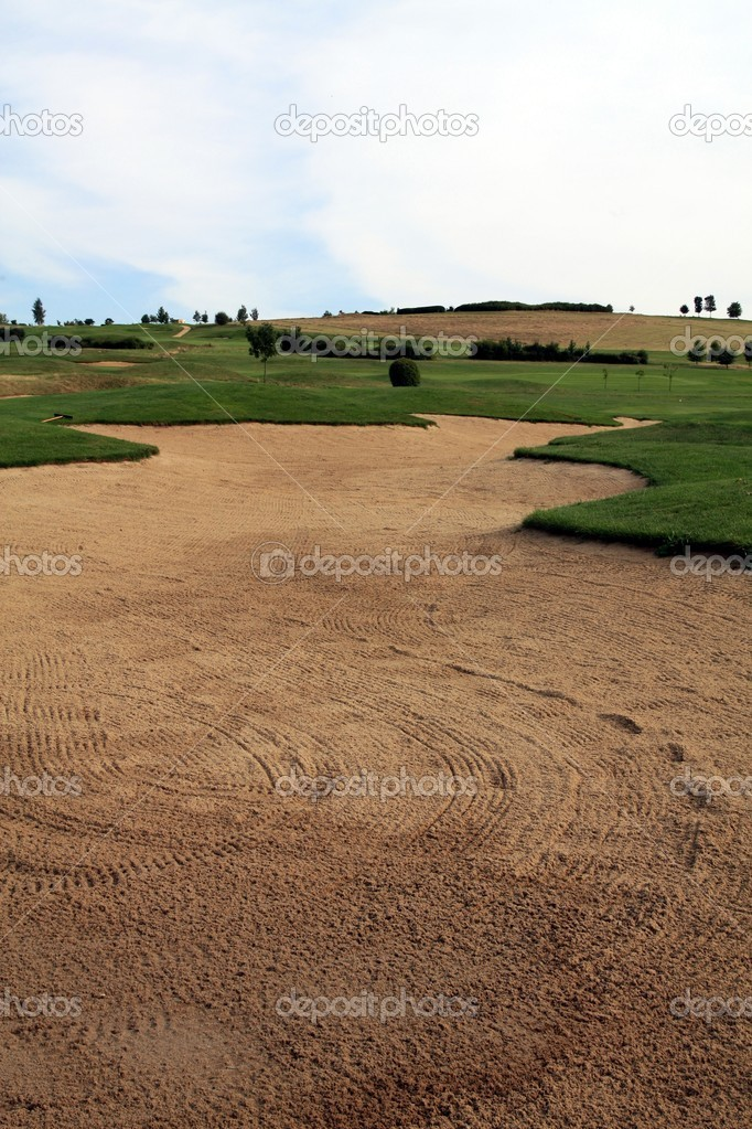 Sand trap at golf course  — Stock Photo #2262690