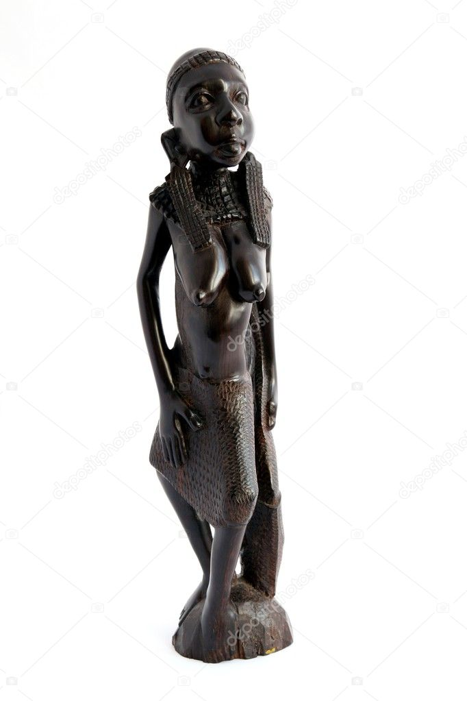 Traditional african statuette on white background  — Stock Photo #2296218
