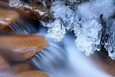 Icy stream — Stock Photo