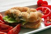 Ham salad rolls — Stock Photo