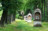 The place of pilgrimage - calvary - Czech republic — Stock Photo