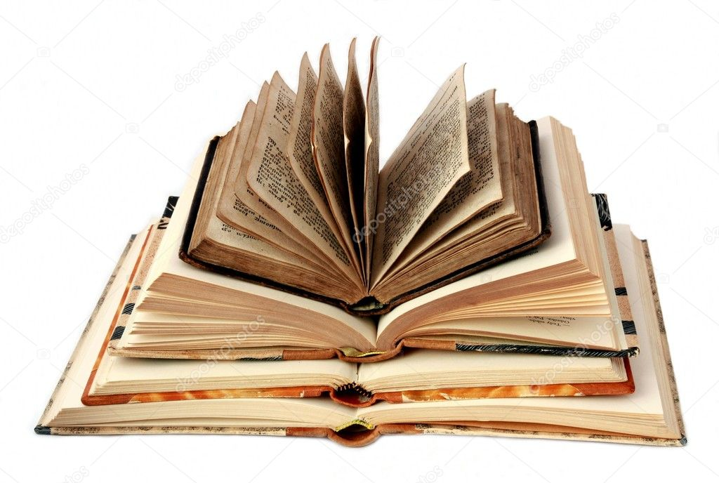 Open books on white background  — Stock Photo #2320845