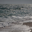 Sea surface with waves — Stock Photo