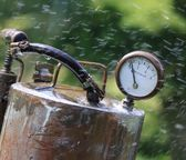 Chemical spray — Stock Photo