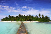 Paradise island of Maldives — Stock Photo