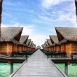 Maldivian ocean villas — Stock Photo