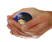 Earth in your hands — Stock Photo