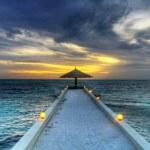 Maldivian sunset HDR — Stock Photo