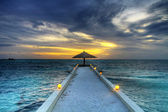 Maldivian sunset HDR — Stock Photo